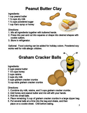 Sample Childrens Cookbook Recipe Page.